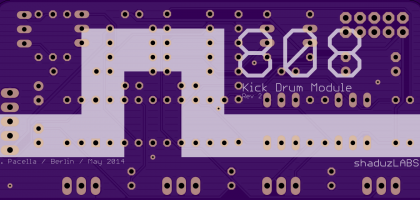 The bottom side of the 808K PCB
